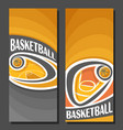 vertical banners for basketball vector image