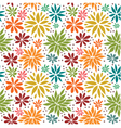 Cute colorful seamless floral background vector image