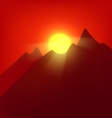 Sunset at the mountains vector image vector image