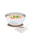 Shrimp porridge vector image