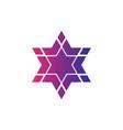 abstract logo star symbol hexagon logo vector image