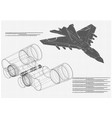 airplane and binoculars vector image