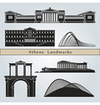 Athens landmarks and monuments vector image
