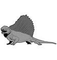 Edaphosaurus vector image