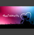 happy valentines day greeting card with cats vector image