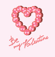 heart of flowers on Valentines Day vector image