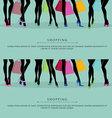Legs shopping vector image