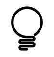 light bulb icon simple black line symbol isolated vector image