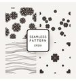 Set of seamless patterns with lines and vector image