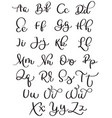 vintage alphabet on white background hand drawn vector image