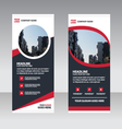 Curve Business Roll Up Banner flat design template vector image