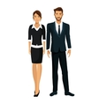 woman man teamwork together working vector image