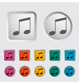 note music icon vector image vector image