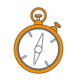 color silhouette image yellow stopwatch icon vector image