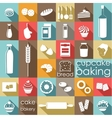 Baking flat set vector image