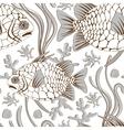 pinecone fish pattern vector image vector image