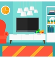 Background of modern living room vector image vector image
