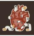 human heart and smoking vector image