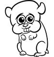 baby hamster cartoon coloring page vector image