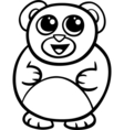cartoon kawaii bear coloring page vector image