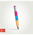 Creative pencil vector image