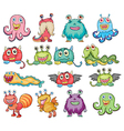 Cute and colorful monsters vector image
