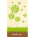 Ecological trees vector image