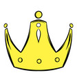 gold crown icon cartoon vector image