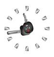 rent a car clock vector image