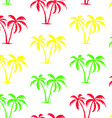 seamless palm tree pattern vector image
