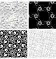 set of 4 textures vector image