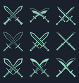 Set of heraldic swords and sabres for heraldry vector image