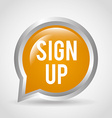 sign up vector image