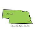 State of Nebraska vector image