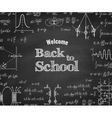 Welcome back to school with formula on blackboard vector image