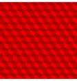 Red geometric seamless cubes pattern background vector image