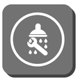 Shower Plumbing Rounded Square Icon vector image