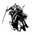 Mongolian warrior vector image