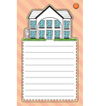 A stationery with an image of a house vector image vector image