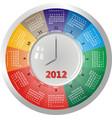 2012 clock vector image