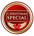 Christmas Special Gold Label vector image vector image
