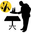 waiter silhouette vector image