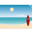 Surfboard beach vacation vector image