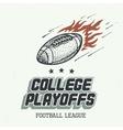 College playoffs hand-drawn vector image