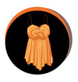 fashion stylish top icon elegant vector image