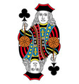 jack of clubs isolated french version vector image