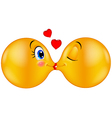Kissing emoticon vector image