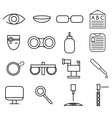 line craft icons set of ophthalmology and vector image