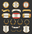luxury golden labels retro vintage collection 3 vector image