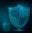 polygonal security shield abstract image low poly vector image